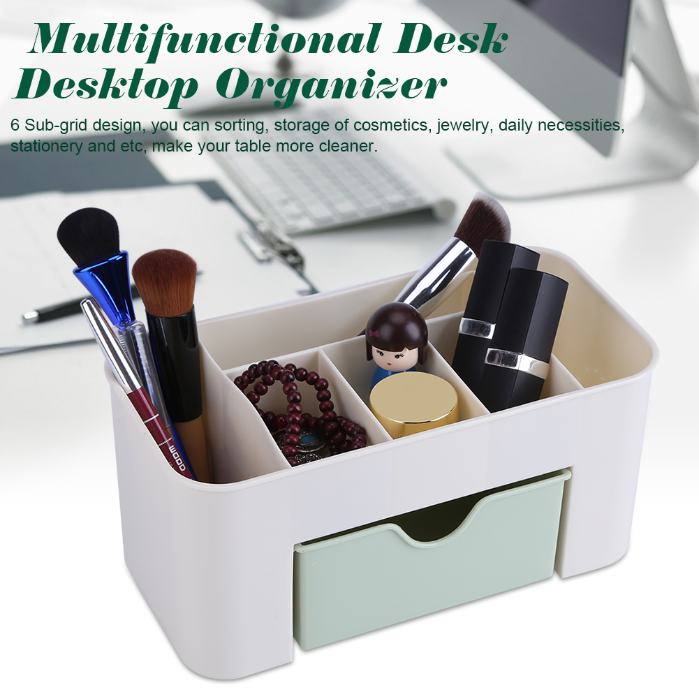 Multifunctional Desk Desktop Organizer Drawer Stationery Holder Makeup Storage Box Home, Storage Box Holder, Makeup Storage Box