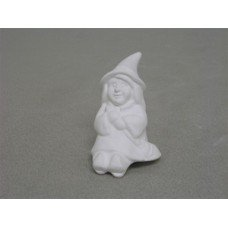 Ceramic bisque unpainted unfinished07-327A witch shelf sitter 1-7/8