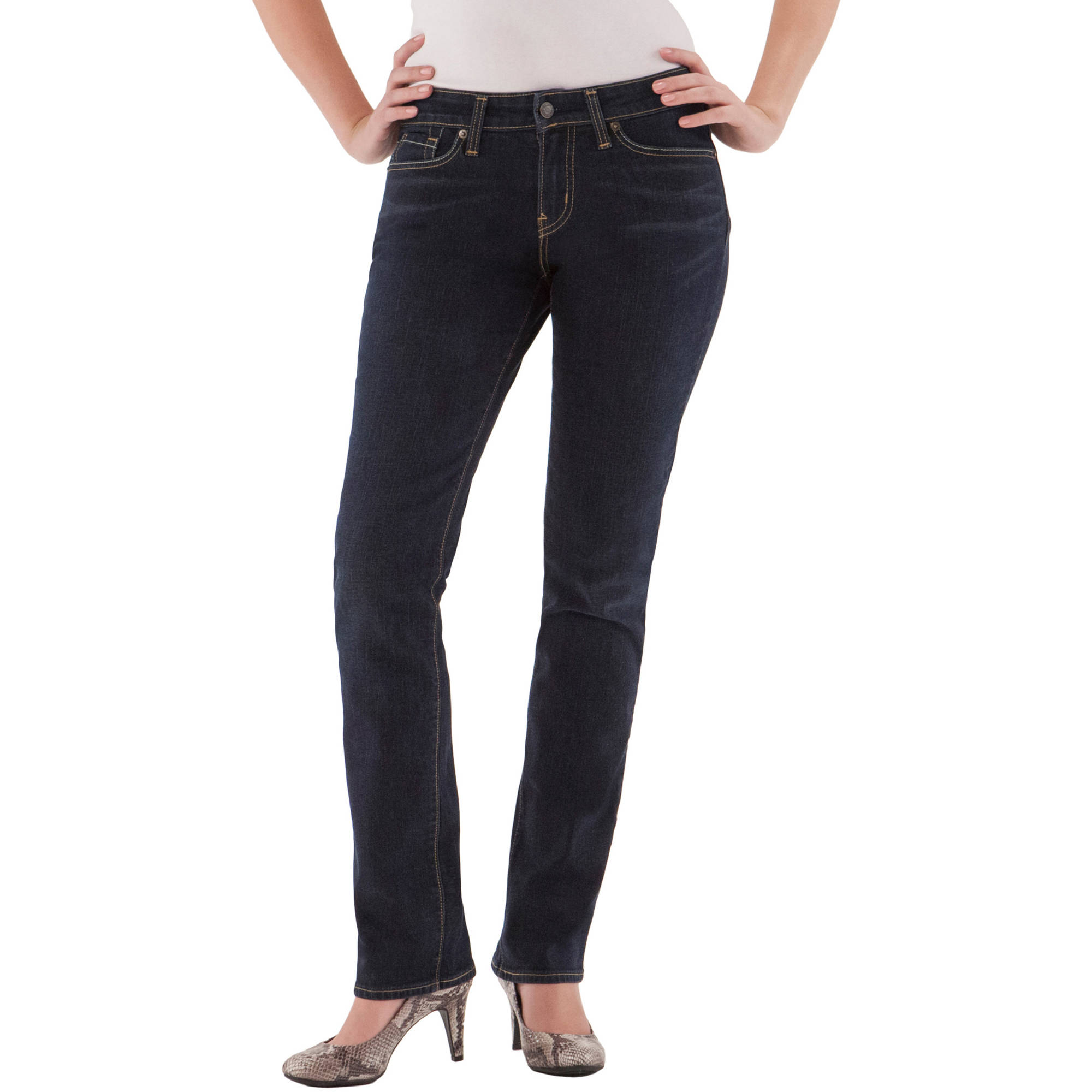 """Signature by Levi Strauss & Co. """" Modern Straight Jeans, Available in Regular, Short, and Long Lengths"""