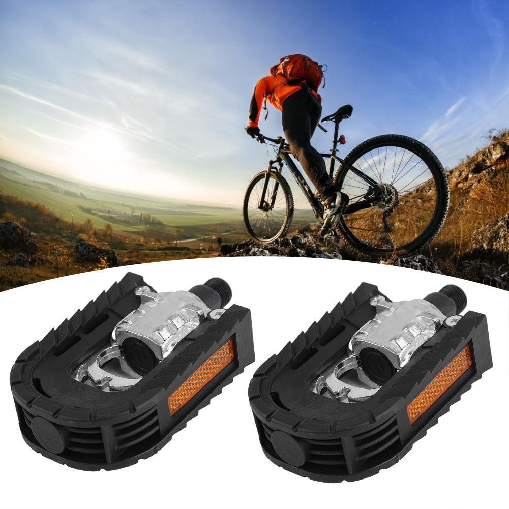 Black Aluminum Alloy Mountain Bike Bicycle Non-slip Folding Platform Pedals Pair