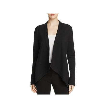 Donna Karan Womens Flyaway Drapey Asymmetric Suit Jacket Button Fly Suit