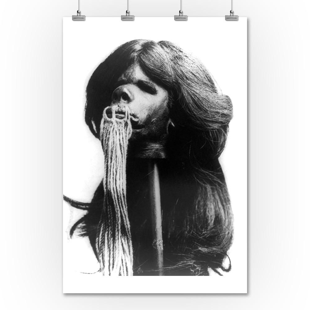 Lantern Press Shrunken Head from Ecuador Photograph (36x5...
