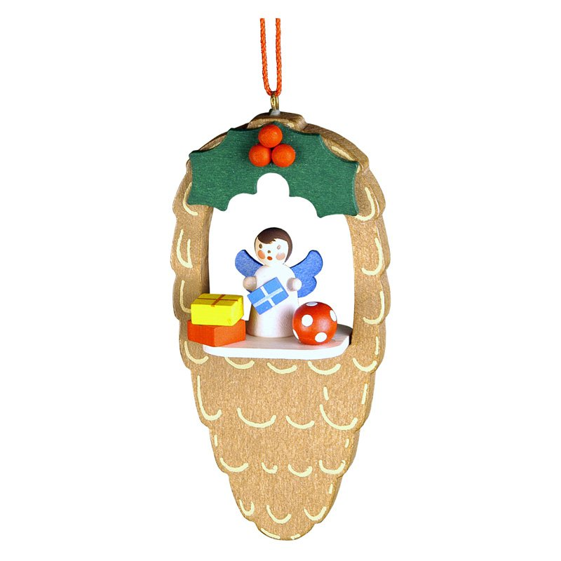 Christian Ulbricht Angel in Pinecone Ornament