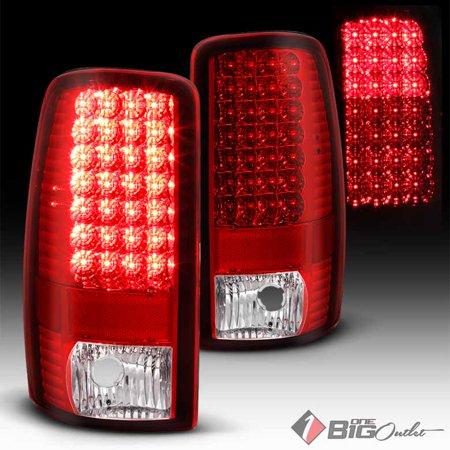 2000 2006 Suburban Tahoe Yukon Red Clear Led Tail Lights W Signal Pair L R 2001 2002 2003 2004 2005