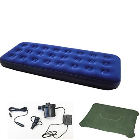 Zaltana Single Size Air Mattress With Two Way Electric Air