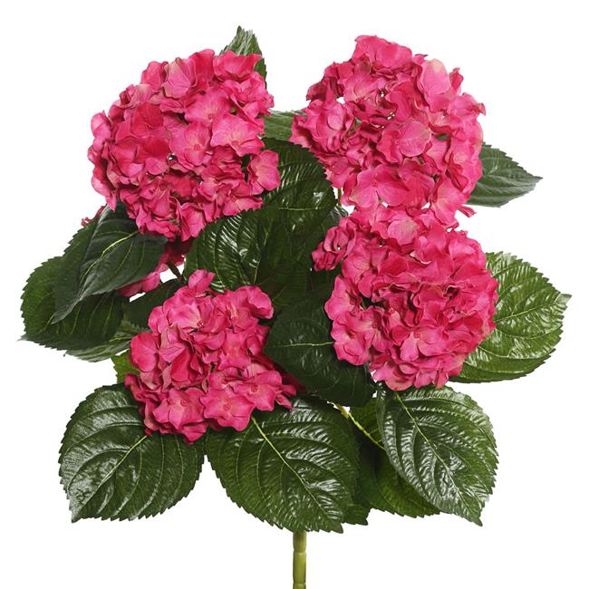 Light Green Hydrangea X5 Floral Bush - 17.5 in.