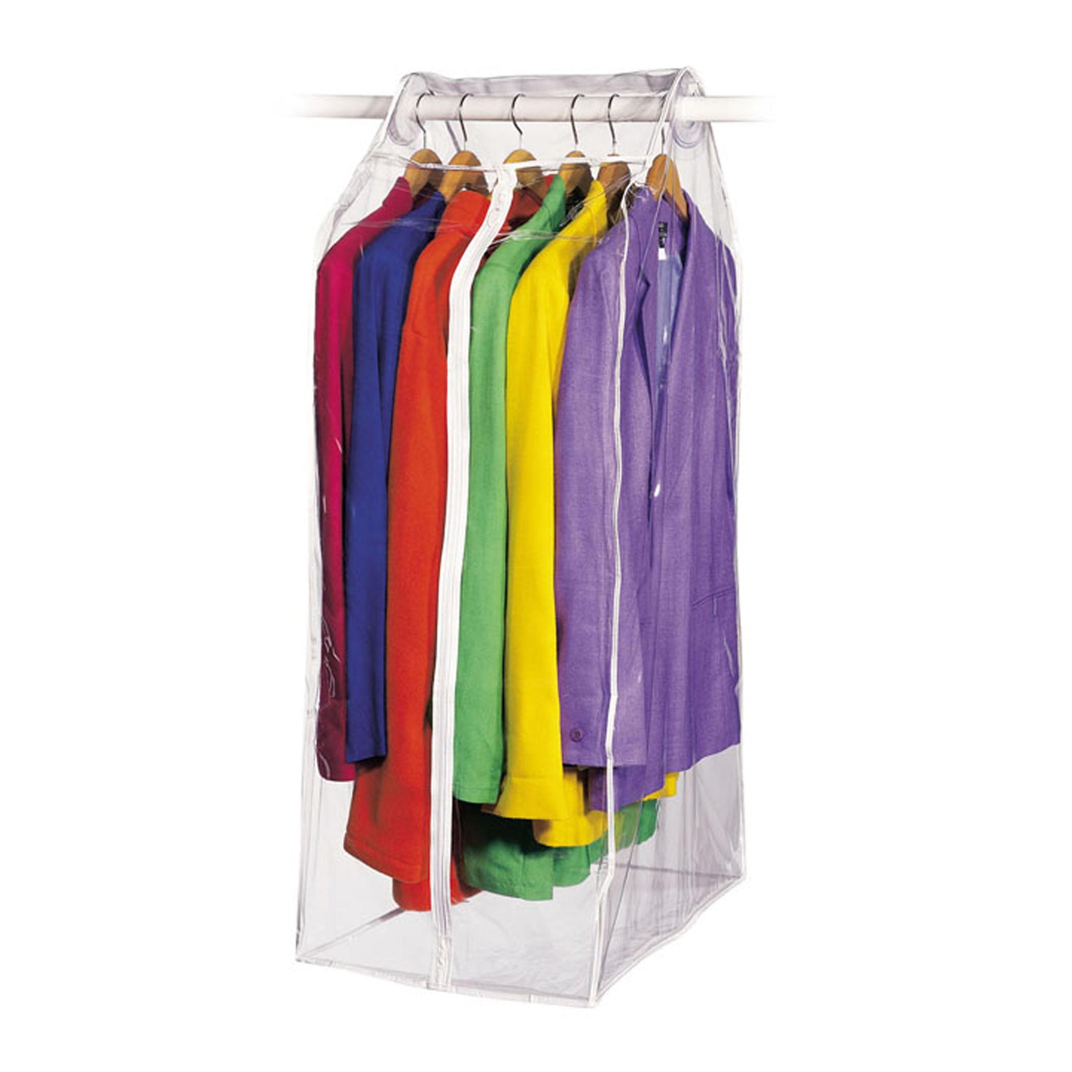 """Clear Vinyl Framelss Suit Bag (15""""x22""""x42"""")"""