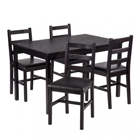 Dining Table Set Pine Wood Kitchen Dining Room Table Dinette Table with 4 (Collection Dinette Set)