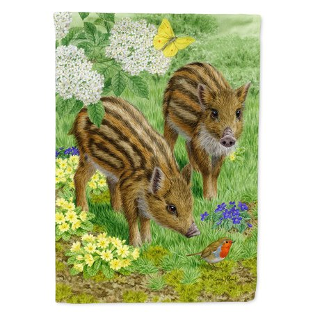 Image of Wild Boar Flag Canvas House Size