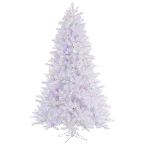 8.5' Pre-Lit Crystal White Pine Artificial Christmas Tree-Multi-Color LED Lights