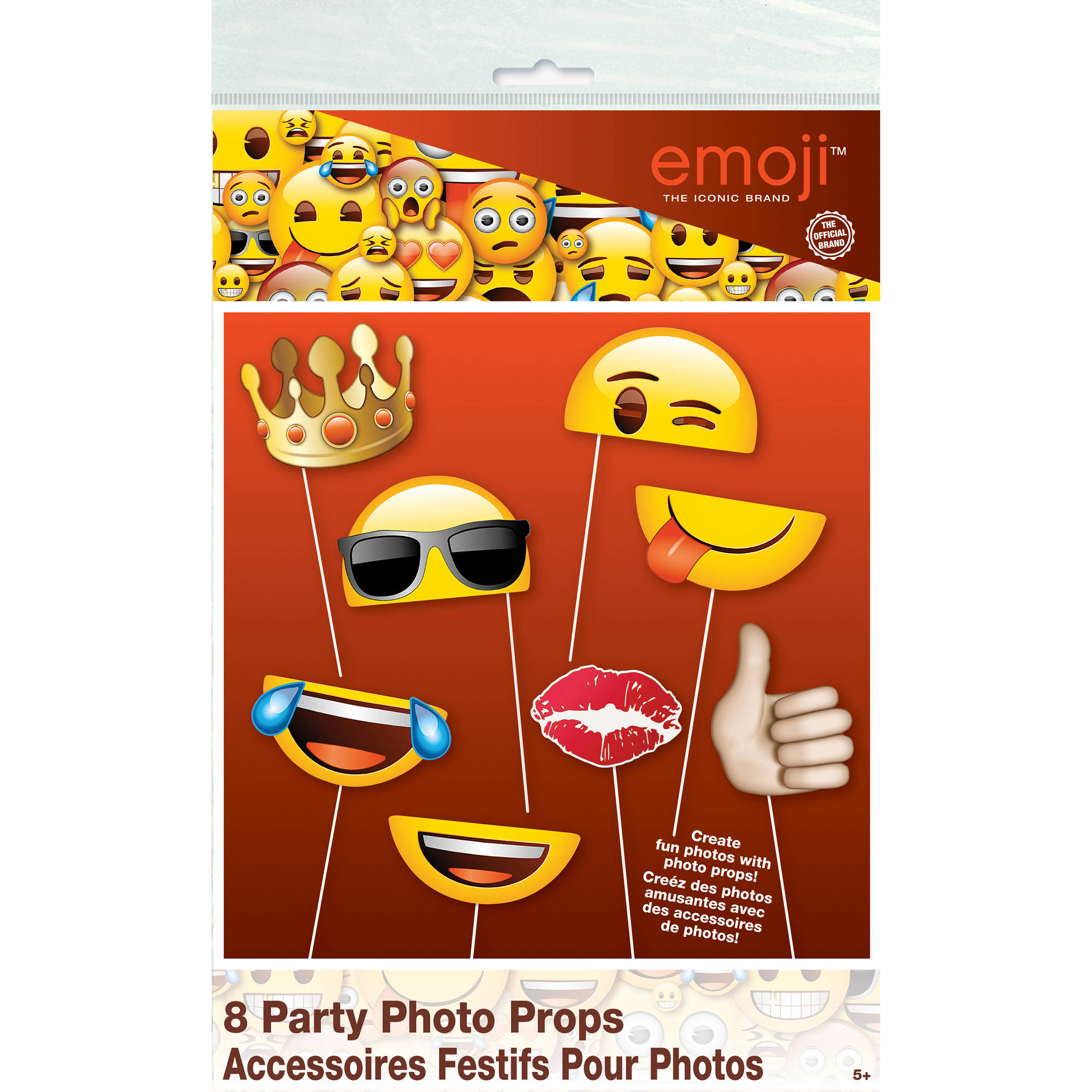 Emoji Photo Booth Props, 8pc
