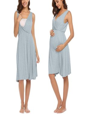 88d14640457 Product Image Maternity Short Sleeve Nursing Baby Breastfeeding Nightdress Pregnancy  Dress