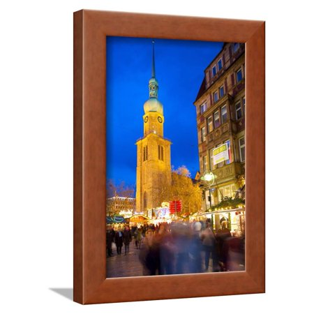 St. Reinoldi Church and Christmas Market at Dusk, Dortmund, North Rhine-Westphalia, Germany, Europe Framed Print Wall Art By Frank (Best Xmas Markets In Europe)