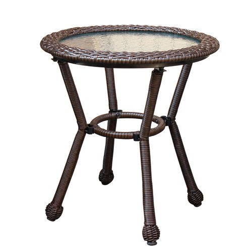 Bay Isle Home Anchor Lane  Glass  Bistro Table