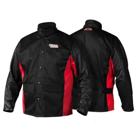 Lincoln Electric K2987 Shadow Grain Leather Sleeve Welding Jacket, Medium