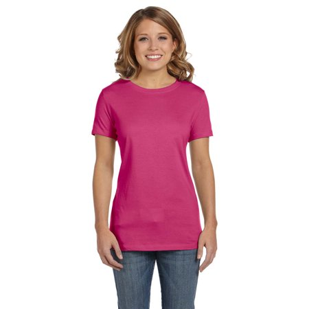 Bella Canvas 6000 Ladies Short-Sleeve Jersey T-Shirt](Purple And Turquoise)