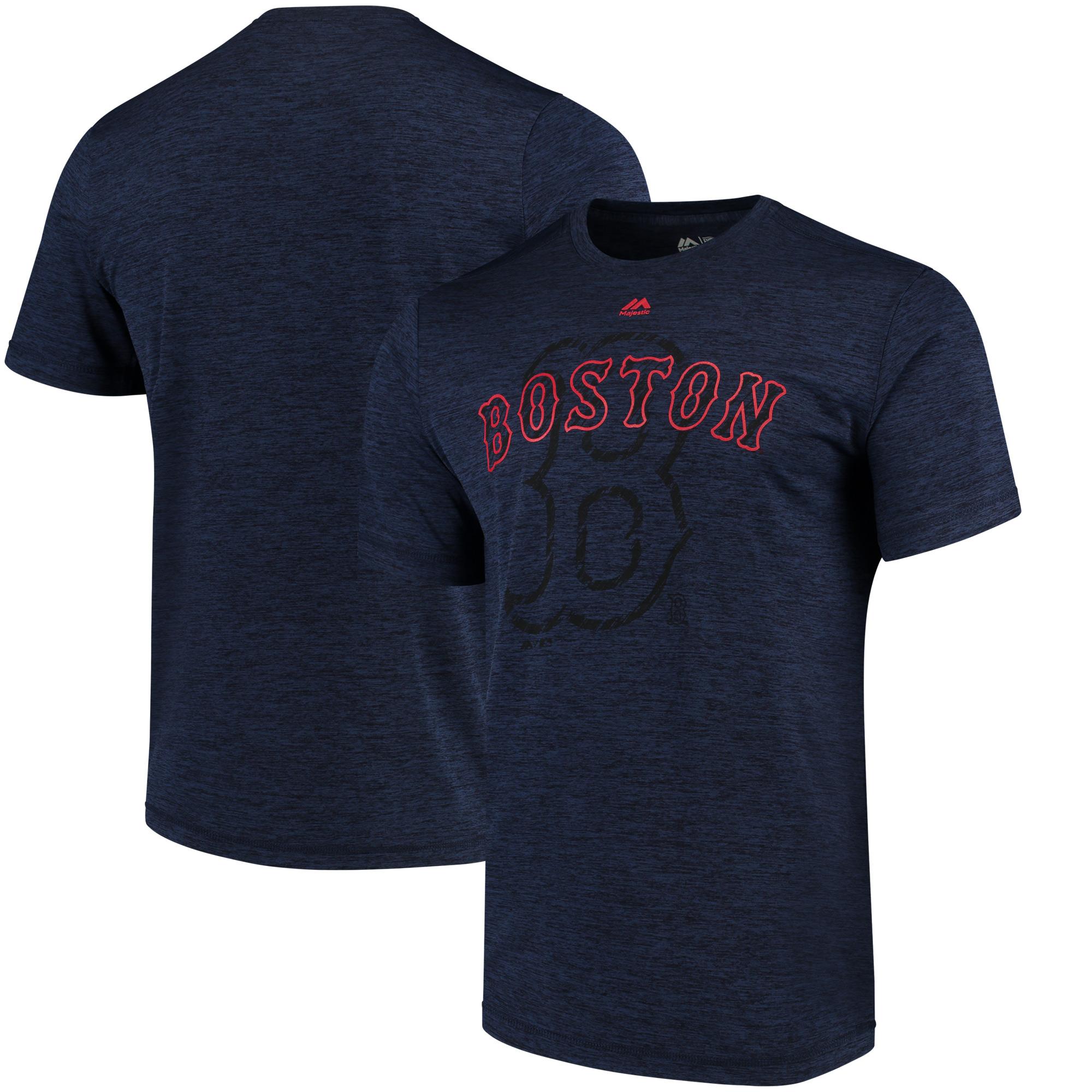 Men's Majestic Navy Boston Red Sox Razoredge T-Shirt