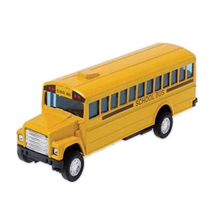 Die Cast Metal Toy School Bus, 5