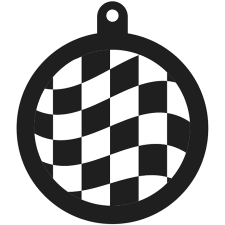 Auto Racing Key Chain