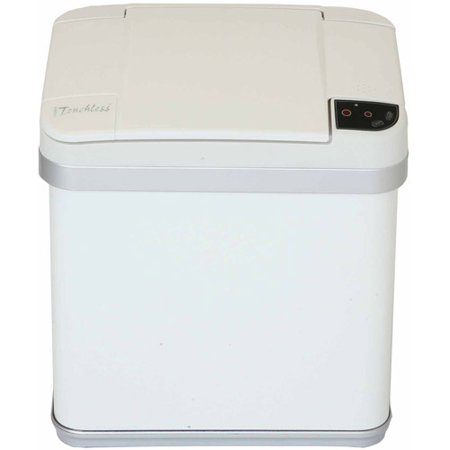 - iTouchless 2.5-Gal Multifunction Sensor Trash Can, Pearl White