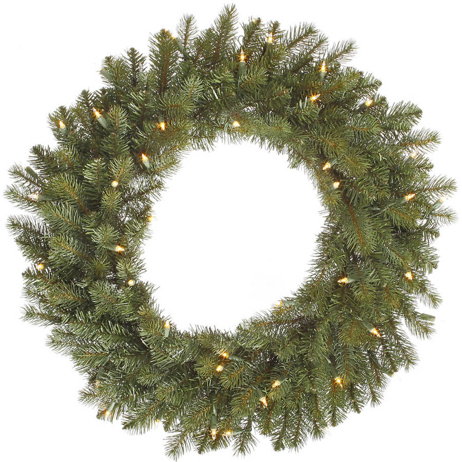 "Vickerman 30"" Colorado Spruce Wreath with 50 Clear Lights"