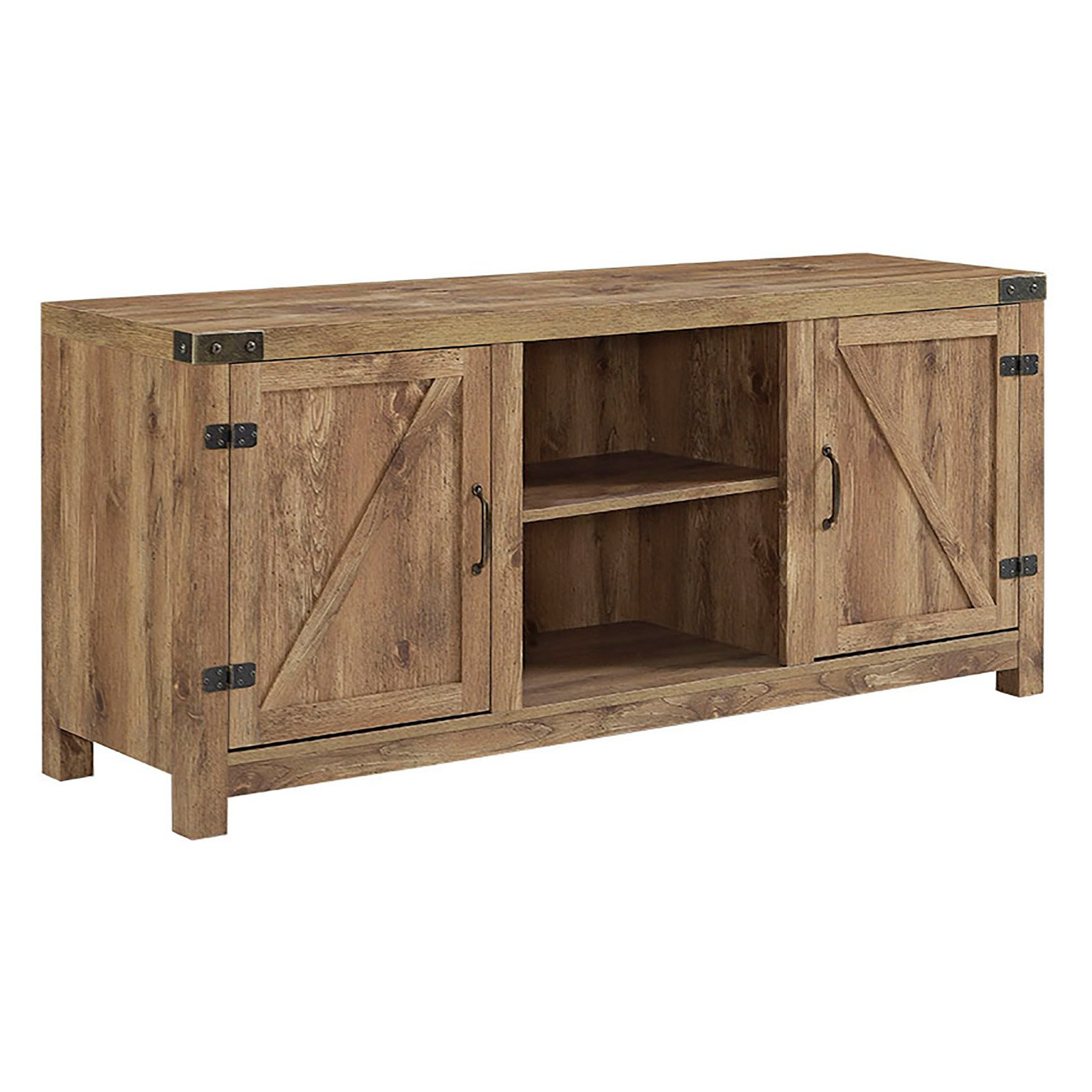 Manor Park Barn Door Tv Stand With Side Doors Walmart Com