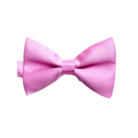 e906cdfc8f63 Mens Formal Tuxedo Solid Color Satin Bow Tie Classic Pre-Tied Bow Tie-Pink  ...