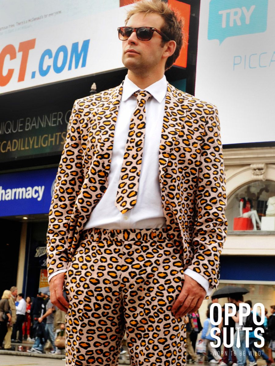 OppoSuits Men's The Jag Animal Suit