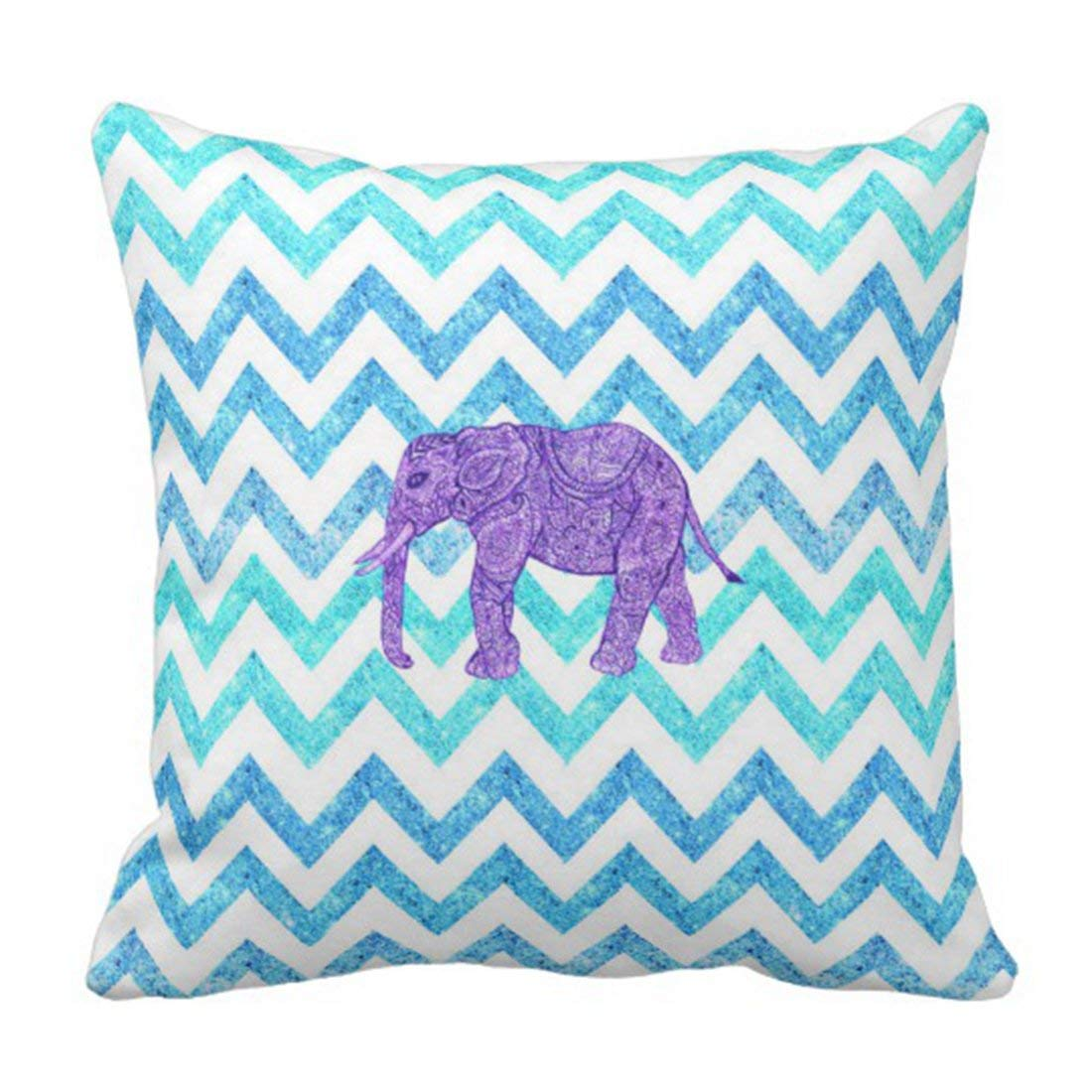 BPBOP Floral Sketch Purple Paisley Elephant Girly Teal Glitter Green Ombre Pillowcase Cushion Cover 20x20 inches