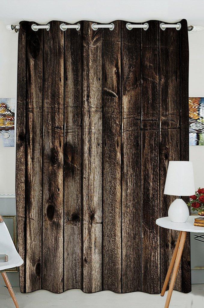 Gckg Rustic Old Barn Wood Window Curtain Kitchen Curtain Window