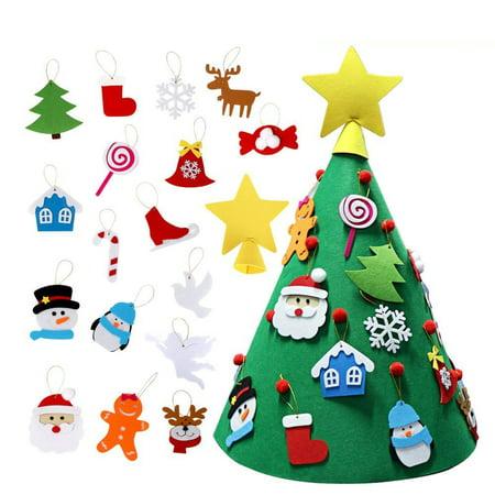 3D DIY Felt Christmas Tree Upgraded Vivid Color Toddler Xmas Decoration ()