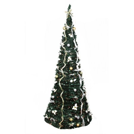 Pre Decorated Pop Up Artificial Christmas Tree Www