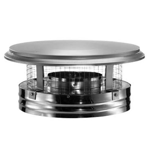 "DuraVent 8DP-VC 8"" Inner Diameter - DuraPlus Class A Chimney Pipe - Triple Wall - Chimney Cap with Spark Arrestor"