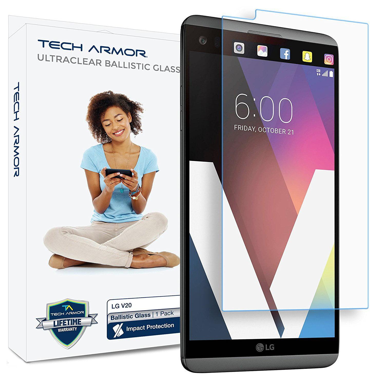 V20 Glass Screen Protector, Tech Armor Premium Ballistic Glass LG V20 Screen Protectors [1]
