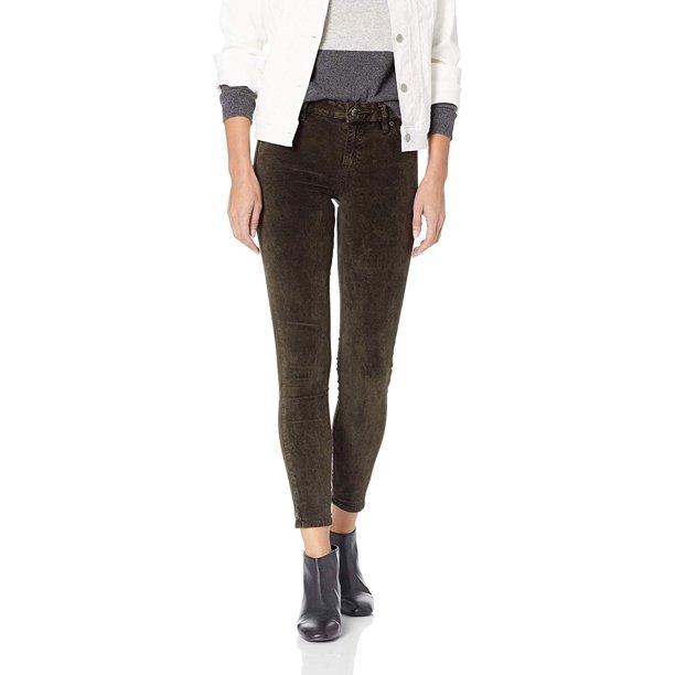 LUCKY BRAND Womens Green Ava Super Skinny Velvet Jeans Size: 0