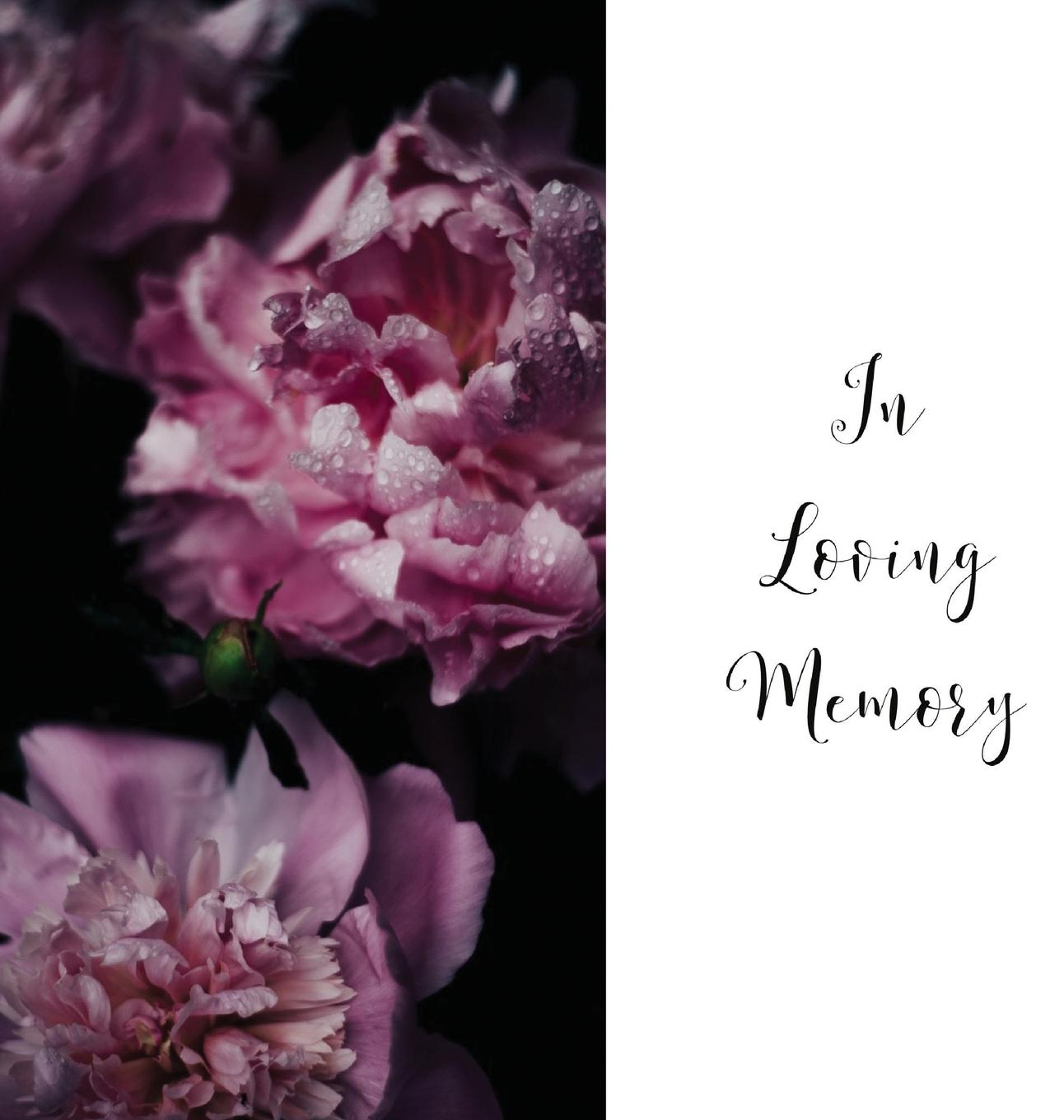 In Loving Memory Funeral Guest Book, Celebration of Life, Wake, Loss, Memorial Service, Condolence Book, Church, Funeral Home, Thoughts and in Memory Guest Book (Hardback) (Hardcover)