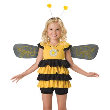 In Character Kids Bumble Bee Insect Outfit Girls Halloween Costume](Bumble Bee Halloween Costume)