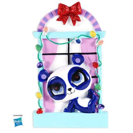 Pet Shop Window (Hasbro Licensed LPS Penny Ling In Window Personalized Christmas Tree Ornament X-mass LITTLEST PET)