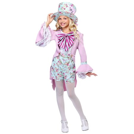 Pretty Mad Hatter Girls Costume (Girl Mad Hatter Costumes)