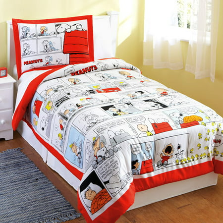 Peanuts Charlie Brown And The Gang 2pc Comforter Set Twin Walmart Com