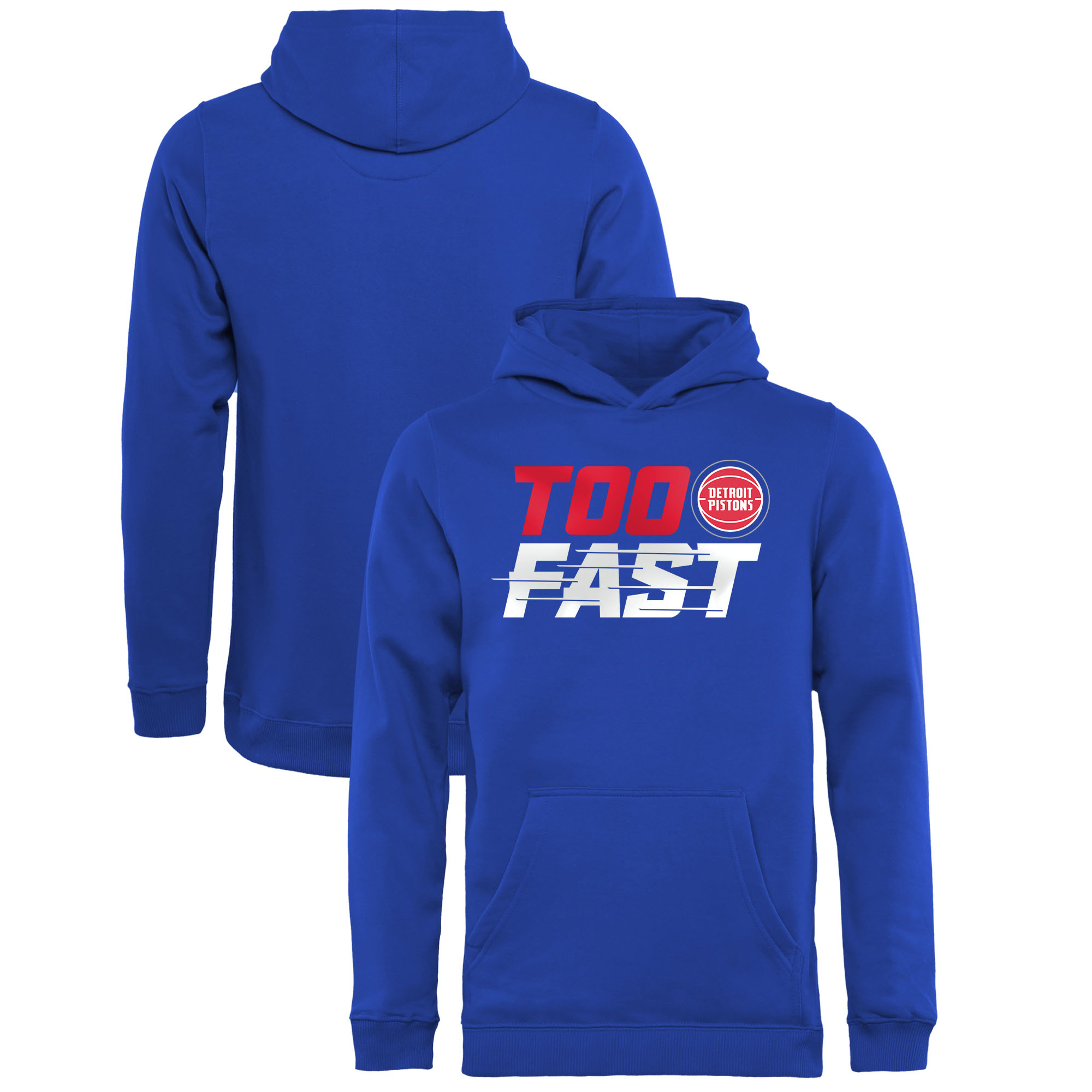 Detroit Pistons Fanatics Branded Youth Too Fast Pullover Hoodie - Blue