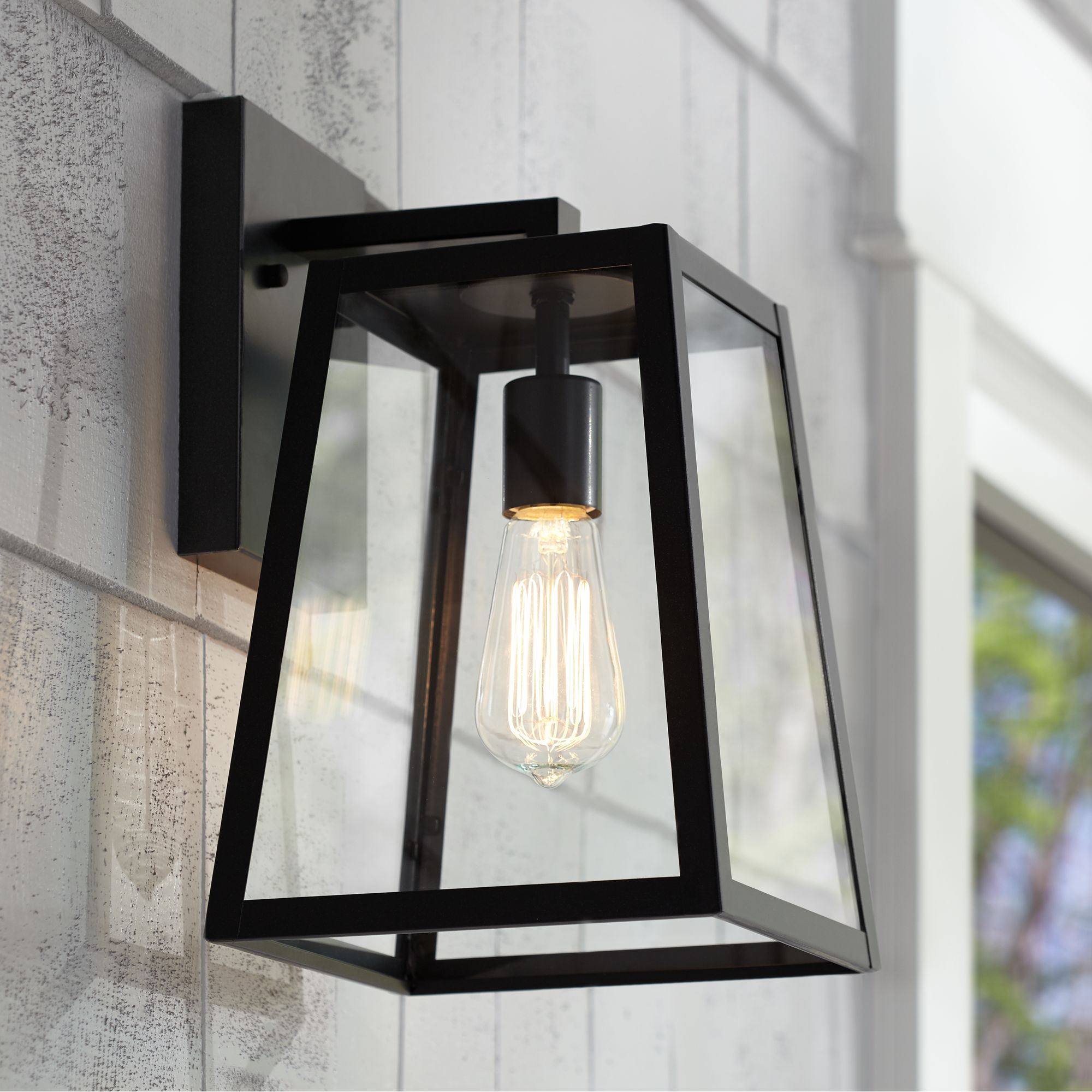 Outdoor Wall Light Fixture Black