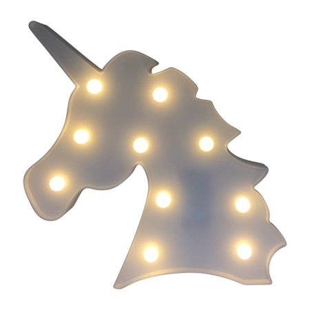 Creative Motion Battery-operated Unicorn Light in white color with 10 LED light -