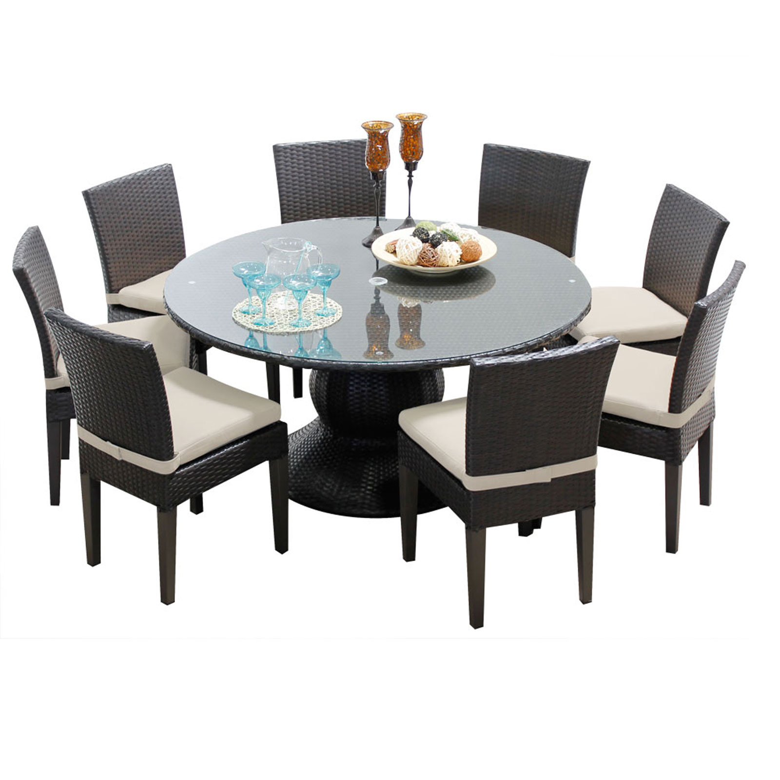 Pluto 60 Inch Outdoor Patio Dining Table With 8 Chairs  sc 1 st  Walmart.com & Pluto 60 Inch Outdoor Patio Dining Table With 8 Chairs - Walmart.com