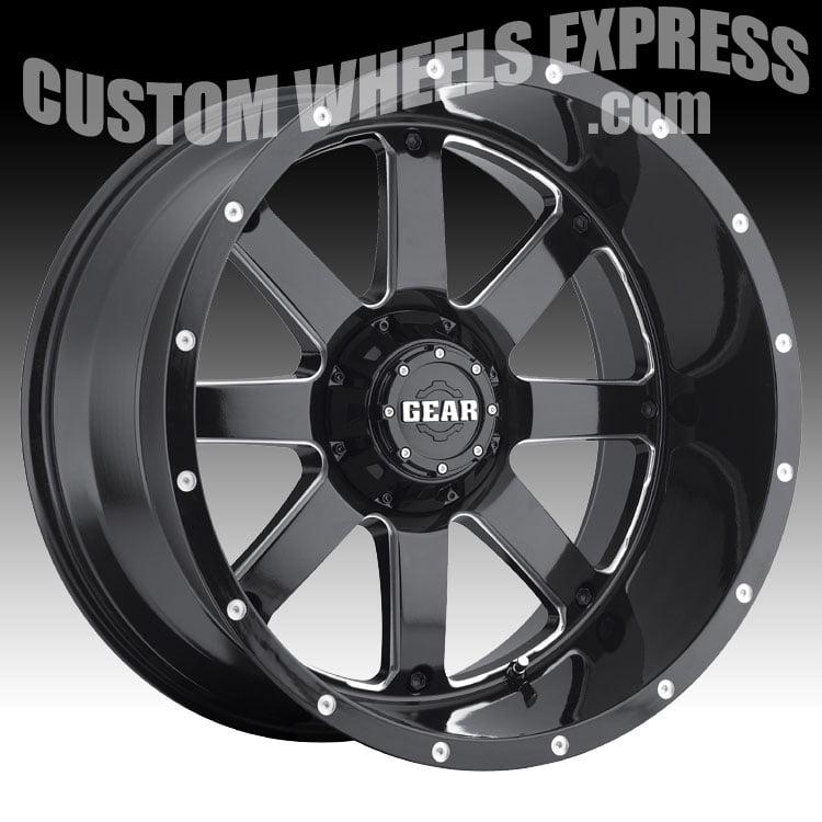 Gear Alloy 726MB Big Block Gloss Black Milled 20x12 6x135...