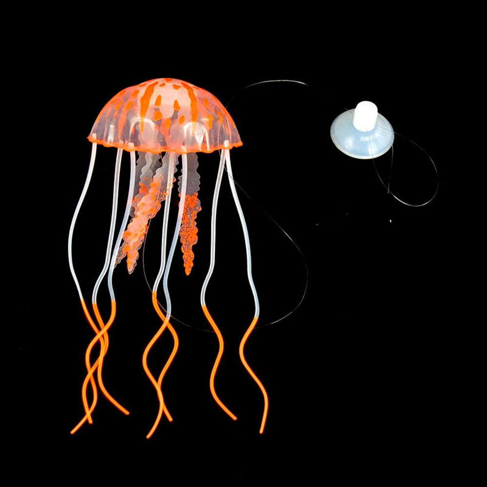 Tuscom Aquarium Jellyfish Decoration Glowing Effect Fish Tank Artificial Ornament