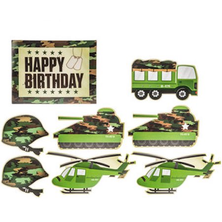 Camouflage Cut-Outs Decorations Party Supplies Special Events 8 Count - Camoflage Party Supplies