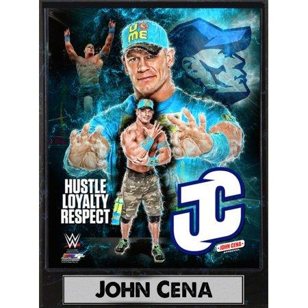 9x12 Photo Plaque - John Cena (Wwe Card Sign By John Cena)
