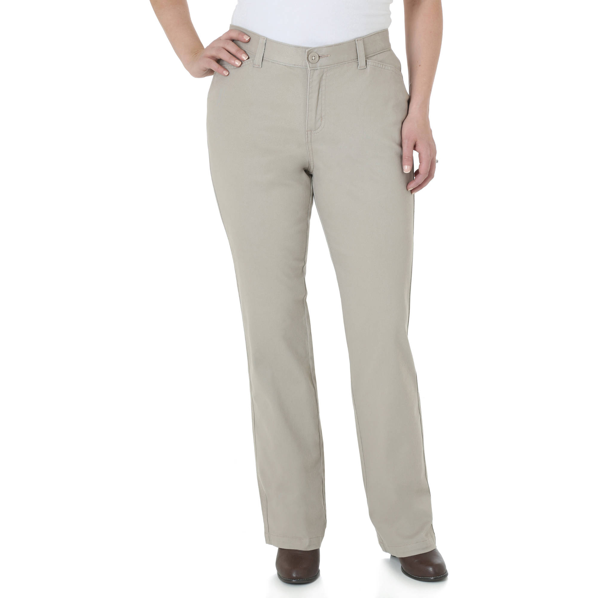 The Riders By Lee Women's Classic Straight Leg Stretch Woven Pants ...