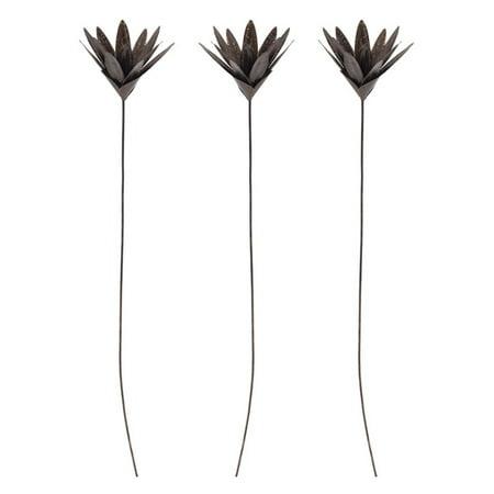Sterling Blossom - Sterling Leaf Blossom Stem - Set of 3